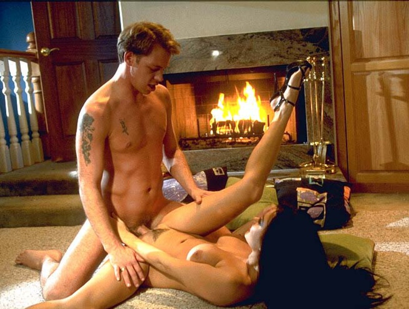 Romantic Sex Next To The Fireplace